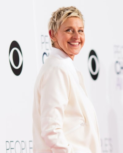 Ellen DeGeneres in White