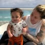 Kailyn Lowry and Baby Lux at the Beach