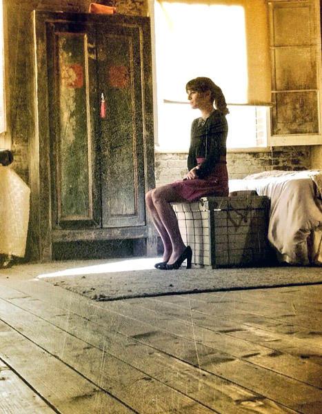 Lea Michele on Glee Set