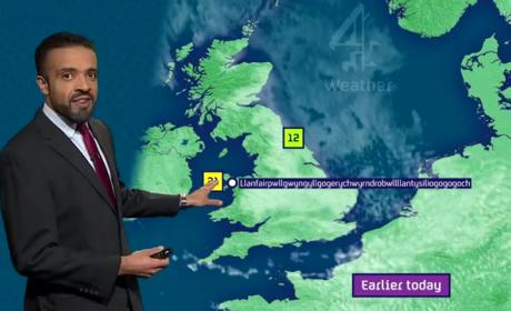 Weatherman Flawlessly Pronounces Impossible-to-Pronounce Village Name