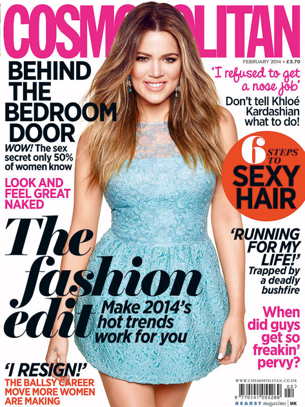 Khloe Kardashian UK Cosmo Cover