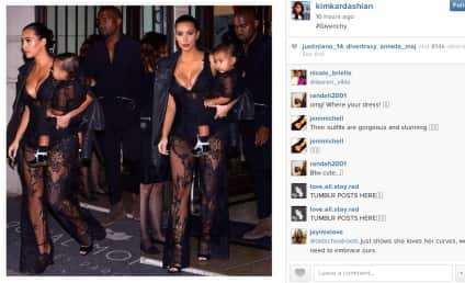 Kim Kardashian Dresses Like Daughter, Gets Butt Grabbed on Instagram