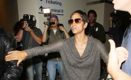 Halle Berry Explodes at Paparazzi, Restrains Olivier Martinez in Airport Melee