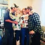 Gwen Stefani and Blake Shelton on Thanksgiving