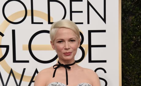 Michelle Williams at the Globes