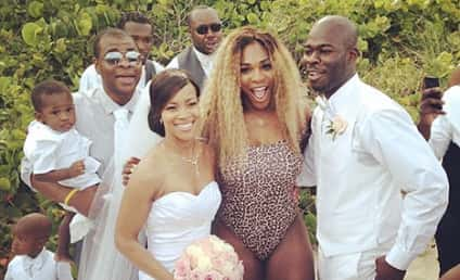 Serena Williams Crashes Wedding in Miami: See the Pics!