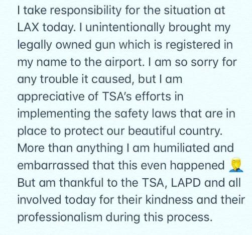 David Henrie LAX gun apology