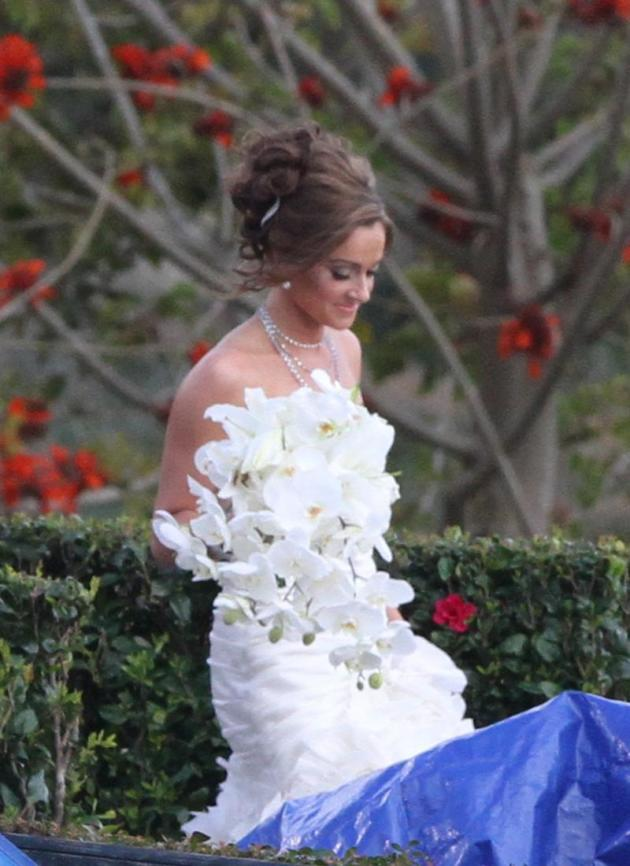 Molly Malaney in a Wedding Dress