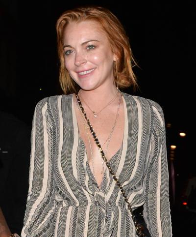 Lindsay Lohan in the Hamptons