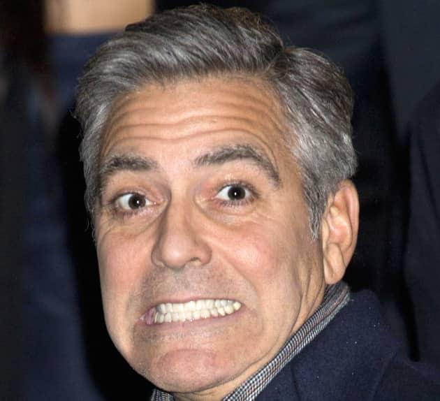 George Clooney Close Up