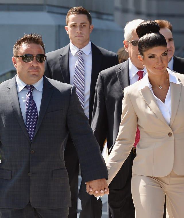 Teresa giudice hold hands