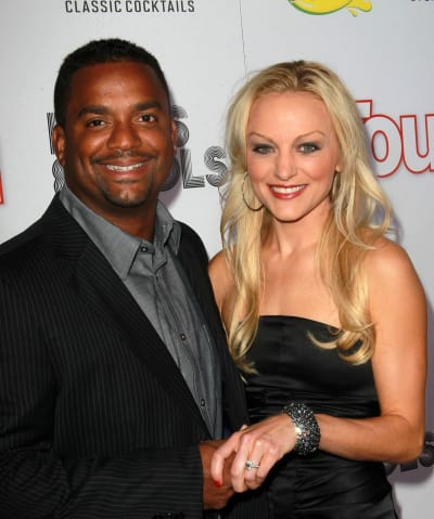 Angela Unkrich and Alfonso Ribeiro