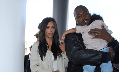Kim Kardashian, Kanye and North West Photo