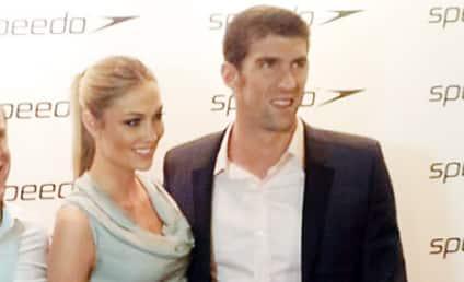 Michael Phelps, Megan Rossee Make Red Carpet Debut!