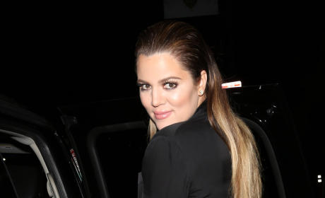 Khloe Kardashian Stops, Poses