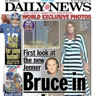 Bruce jenner daily news maxi dress