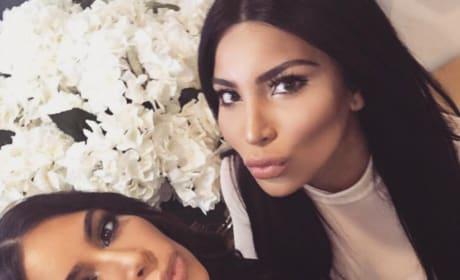 Kamilla Osman and Kim Kardashian