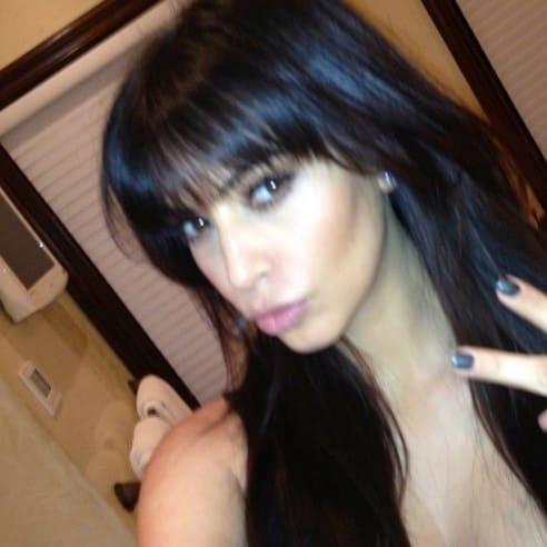 Kim Kardashian Bangs Image