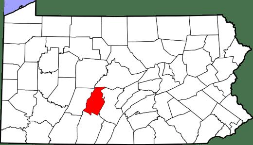 Blair County PA Map