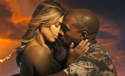 "Kanye West ""Bound 2"" Music Video: Kim Kardashian Topless! On a Motorcycle!"