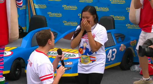 Joey Chestnut Proposes