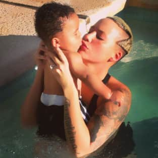 Amber Rose and Her Son