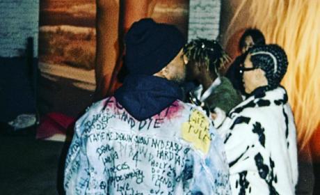 Kanye West in denim jacket