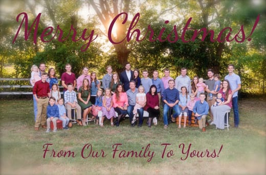 Duggar Christmas Photo 2017