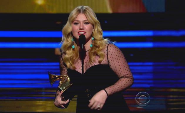 Kelly Clarkson at 2013 Grammy Awards