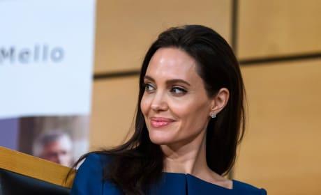 Angelina Jolie with a Smirk
