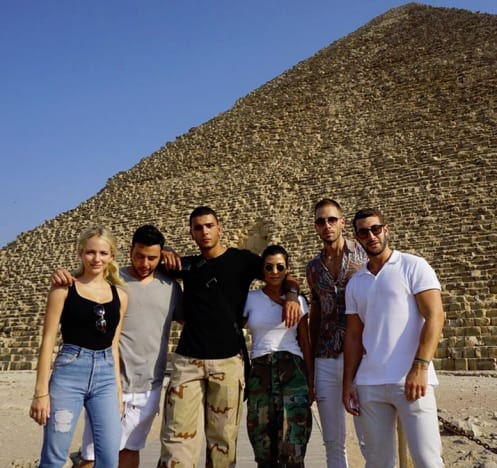 Kourtney Kardashian and Younes Bendjima and Friends in Egypt