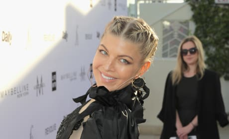 Fergie in Peach and Black