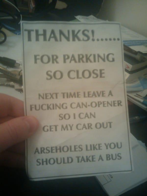 You Park Like a Jackass