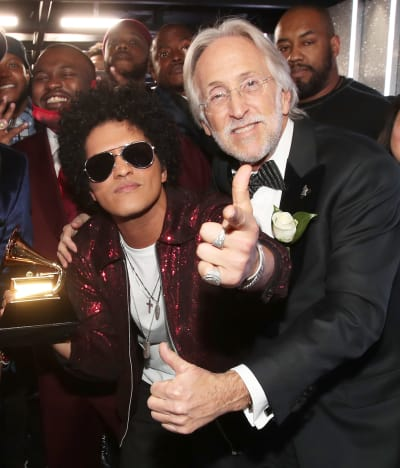 Neil Portnow and Bruno Mars