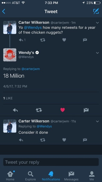 wendy's question