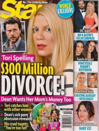 Tori Spelling Divorce Story