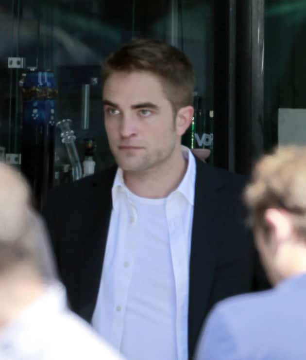 Robert Pattinson on Film Set