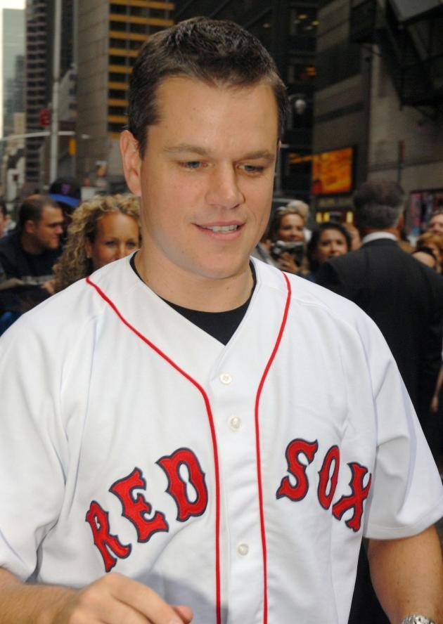 Matt Damon Red Sox Fan