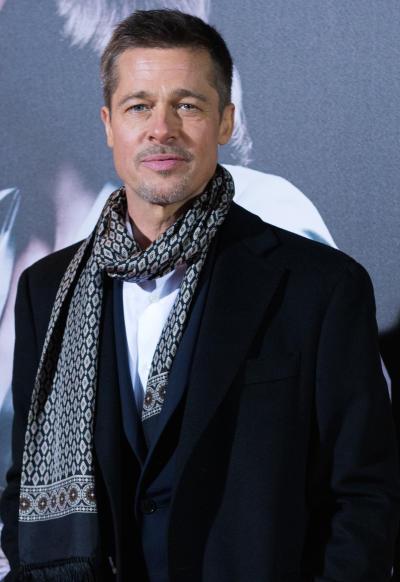 Brad Pitt in a Scarf