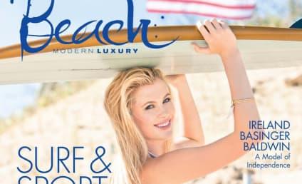 Ireland Baldwin Covers Beach, Dons Bikini, Loves Apples