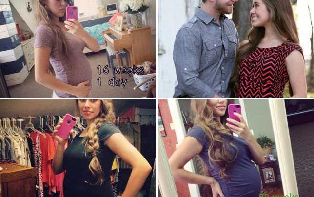 Jessa duggar baby bump 16 weeks