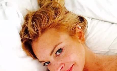 Lindsay Lohan No Makeup Instagram Selfie