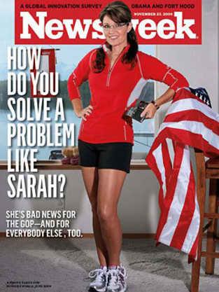 Newsweek Cover of Sarah Palin