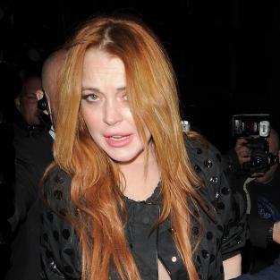 Lindsay Lohan London Paparazzi