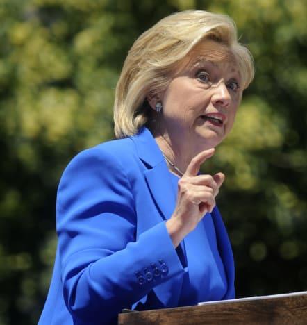 Hillary Clinton at a Rally
