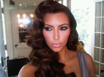 Kim Kardashian Retro Hairstyle