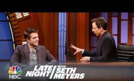 Robert Pattinson on Late Night