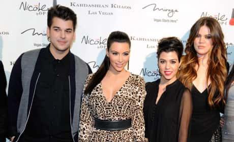 Robert Kardashian Jr., Kim Kardashian, Kourtney Kardashian and Khloe Kardashian: Kardashian Khaos Las Vegas Opening