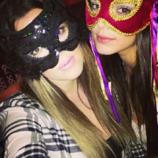 Masked Khloe and Kendall