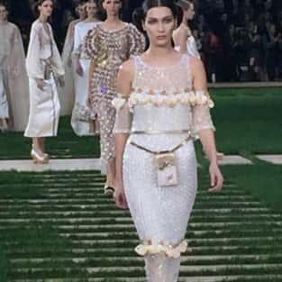 Bella Hadid Walks in Chanel During Paris Fashion Week